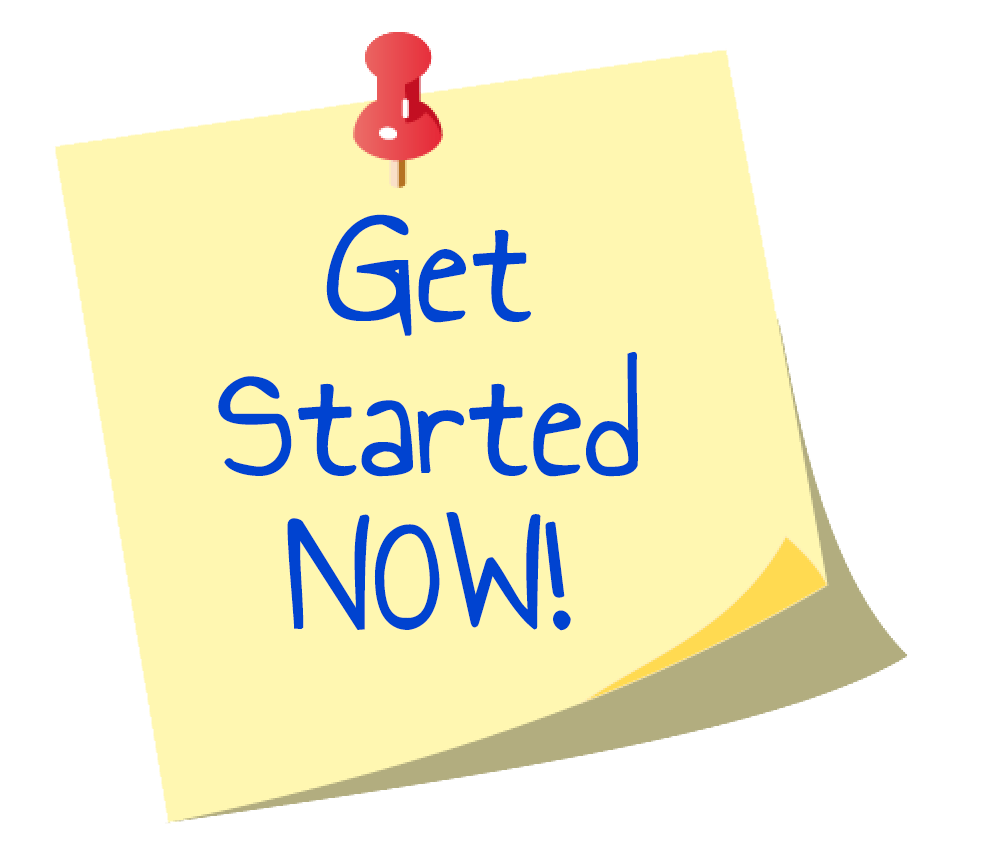 Get Started Now sticky note