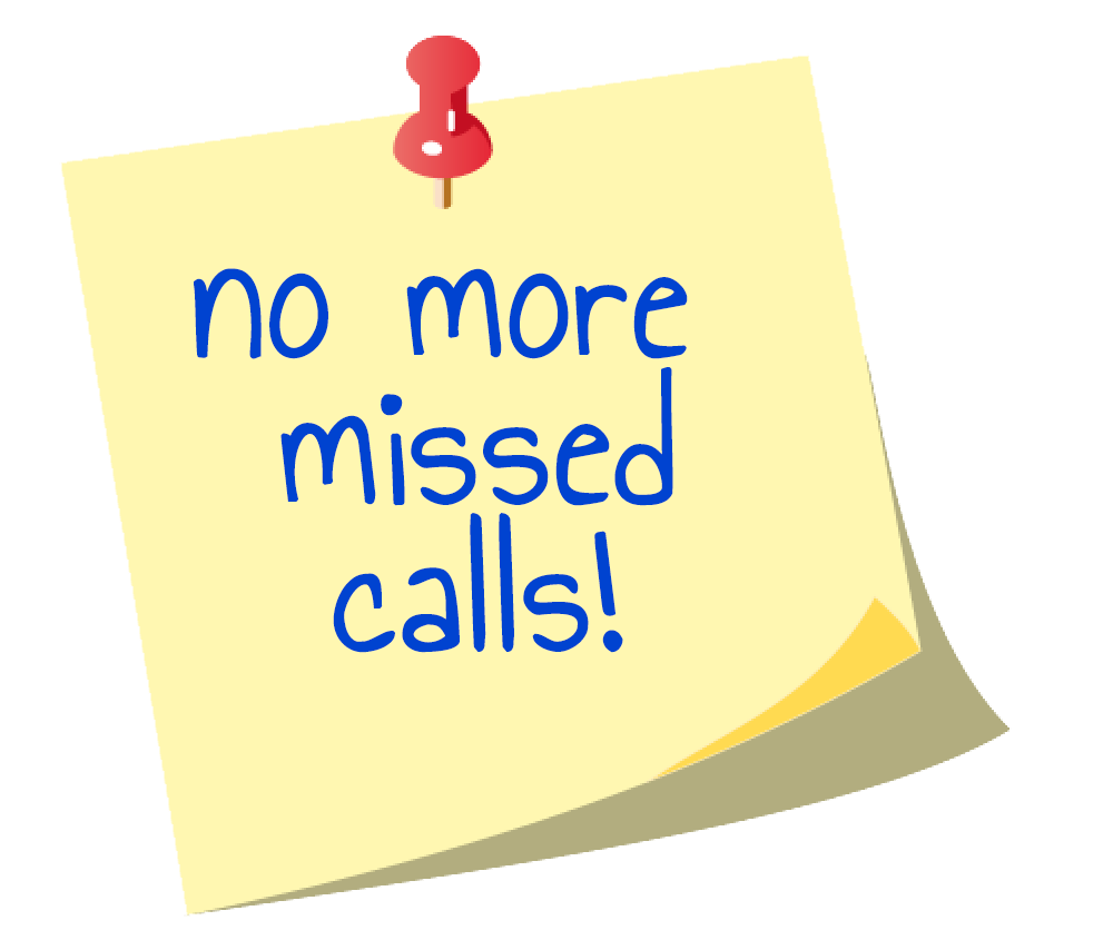 No more missed calls sticky note